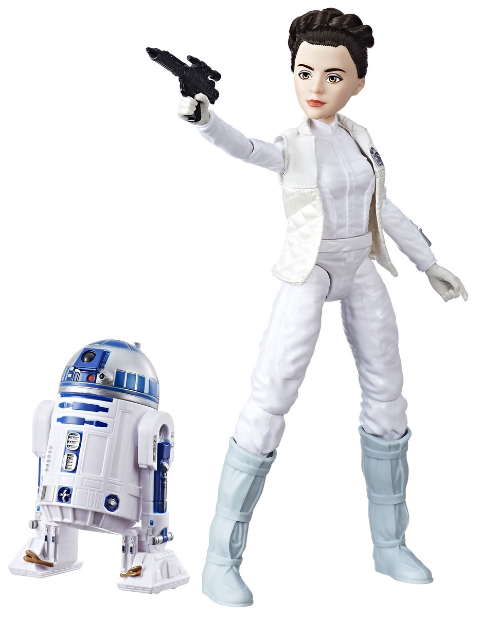 Star Wars Набор фигурок Princess Leia Organa & R2-D2 star wars princess leia organa cosplay wigs halloween costume wig synthetic fiber wig free shipping 2015 hot sales