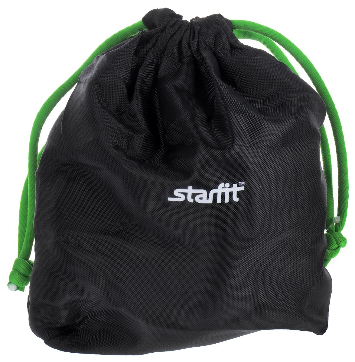 Утяжелители универсальные Starfit, цвет: черный, зеленый, 1,5 кг, 2 штУТ-00007284Утяжелители Star Fit, изготовленные из неопрена, наполнены металлической стружкой. Они легко фиксируются при помощи крепежного ремешка на липучке. Изделия идеальны в использовании при занятиях аэробикой, оздоровительной гимнастикой и фитнесом. Мягкий материал надежно облегает, давая вместе с тем ощущение свободы рукам - у вас отпадает необходимость держать гантели или гири для создания усилий во время тренировок. Утяжелители имеют компактный размер и не займут много места при хранении и переноске. Оригинальный современный дизайн, приятное цветовое оформление и качество самих утяжелителей будут несомненно радовать вас во время тренировок!Вес каждого утяжелителя: 1,5 кг. Длина утяжелителя (без учета ремня): 25,5 см. Ширина утяжелителя: 10,5 см.