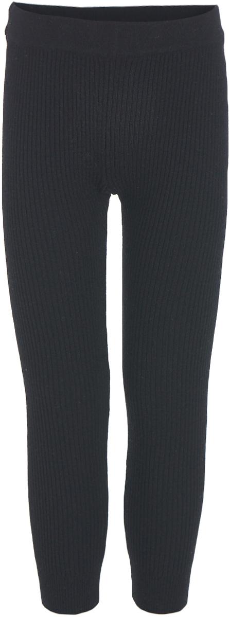 Леггинсы для девочки Button Blue, цвет: черный. 217BBGC01010800. Размер 110, 5 лет217BBGC01010800Уютные вязаные леггинсы – незаменимая вещь для морозной погоды. С удлиненным свитером или кардиганом они могут носиться как полноценный низ или быть дополнительным теплым слоем в сочетании с брюками или комбинезоном. Недорогие детские вязаные леггинсы высокого качества позволят быстро принять решение о покупке и наслаждаться теплом и комфортом в холодные дни.