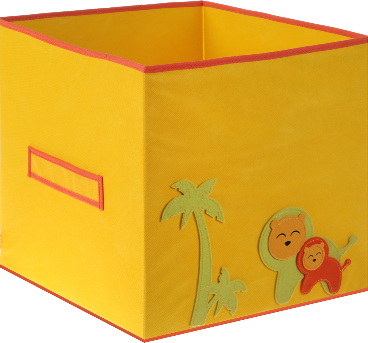 Коробка для игрушек Все на местах Sunny Jungle, цвет: желтый, оранжевый, 40 х 40 х 40 см1071032_оранжевый с рисункомКоробка для хранения игрушек Все на местах Sunny Jungle выполнена из высококачественного нетканого материала (спанбонда), который обеспечивает естественную вентиляцию, позволяя воздуху проникать внутрь, но не пропускает пыль. Вставки из ПВХ хорошо держат форму.Такая коробка легко разбирается и собирается, она поможет удобно хранить игрушки.Размер коробки: 40 см х 40 см х 40 см.