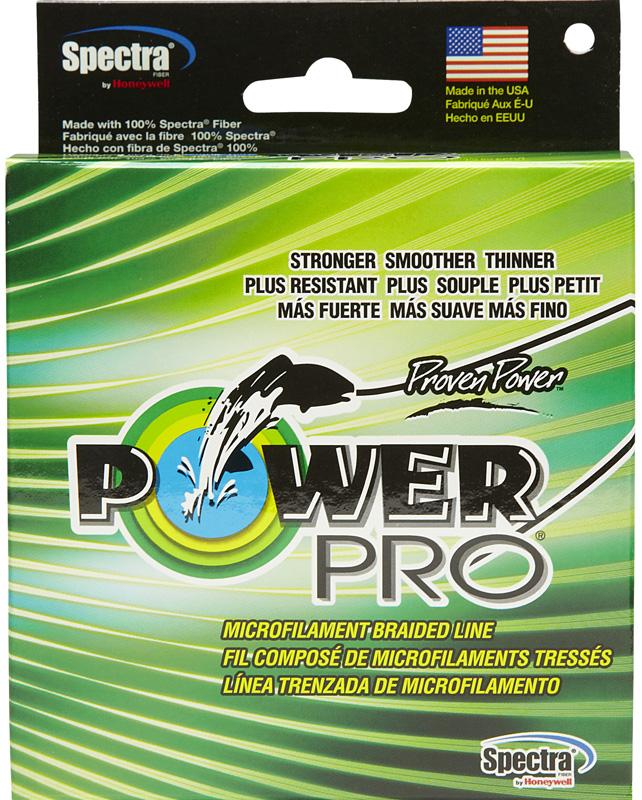 Леска плетеная Power Pro, цвет: зеленый, 92 м, 0,08/4кгPP092MGR008Power Pro - плетеные лески (шнуры) производятся из тончайших волокон различных высокопрочных и высокомодульных материалов. Шнуры Power Pro изготовлены в США из 100 % микроволокна SPECTRA FIBER. Тончайшие волокно, плотное плетение и дополнительное покрытие обеспечивают высокую прочность на узлах и минимальное трение при прохождении колец. Шнур обладает высокой надежностью в самых экстремальных условиях. При использовании легких приманок: выбор диаметра power pro также прост как обычно используемой вами монолески. Например, если вы обычно используете монолеску с мощностью на разрыв 4 кг, то power pro такого же диаметра выдержит 15 кг. При использовании тяжелых приманок: если вы обычно используете монофил или Dacron с мощностью на разрыв 25 кг, то power pro предложит вам нить такой же мощности значительно меньшего диаметра.