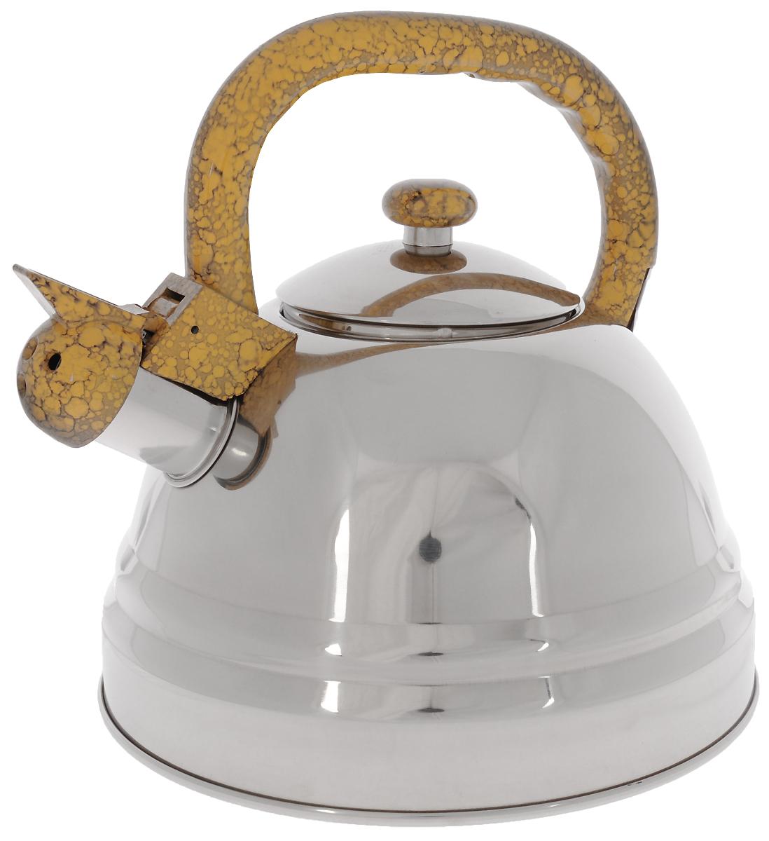 Чайник Bekker Koch со свистком, 3 л. BK-S337BK-S337Чайник Bekker Koch выполнен из высококачественной нержавеющей стали, что обеспечивает долговечность использования. Внешнее зеркальное покрытие придает приятный внешний вид. Пластиковая фиксированная ручка делает использование чайника очень удобным и безопасным. Чайник снабжен свистком и устройством для открывания носика. Изделие оснащено капсулированным дном для лучшего распространения тепла.Можно мыть в посудомоечной машине. Пригоден для всех видов плит кроме индукционных. Высота чайника (без учета крышки и ручки): 13 см.Диаметр основания: 22 см. Толщина стенки: 4 мм.