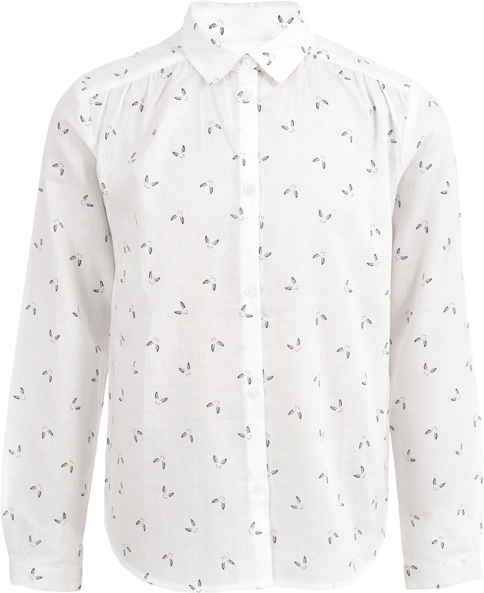Блузка девочки Button Blue, цвет: белый. 217BBGC22010207. Размер 116, 6 лет