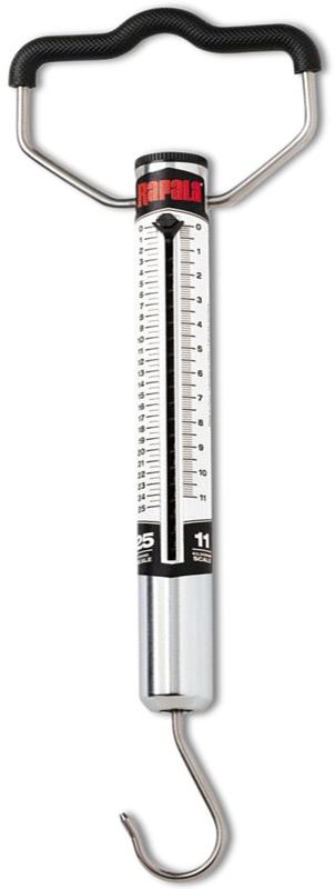 Безмен Rapala, до 11 кгRMWS-25Безмен Rapala предназначена для точного определения веса того продукта для домашних заготовок. Крюк аксессуара выполнен из высококачественной нержавеющей стали, пружина располагается в трубчатом алюминиевом корпусе. Безмен оснащен рукояткой и 2 шкалами в фунтах и килограммах.Максимальная нагрузка: 11 кг.