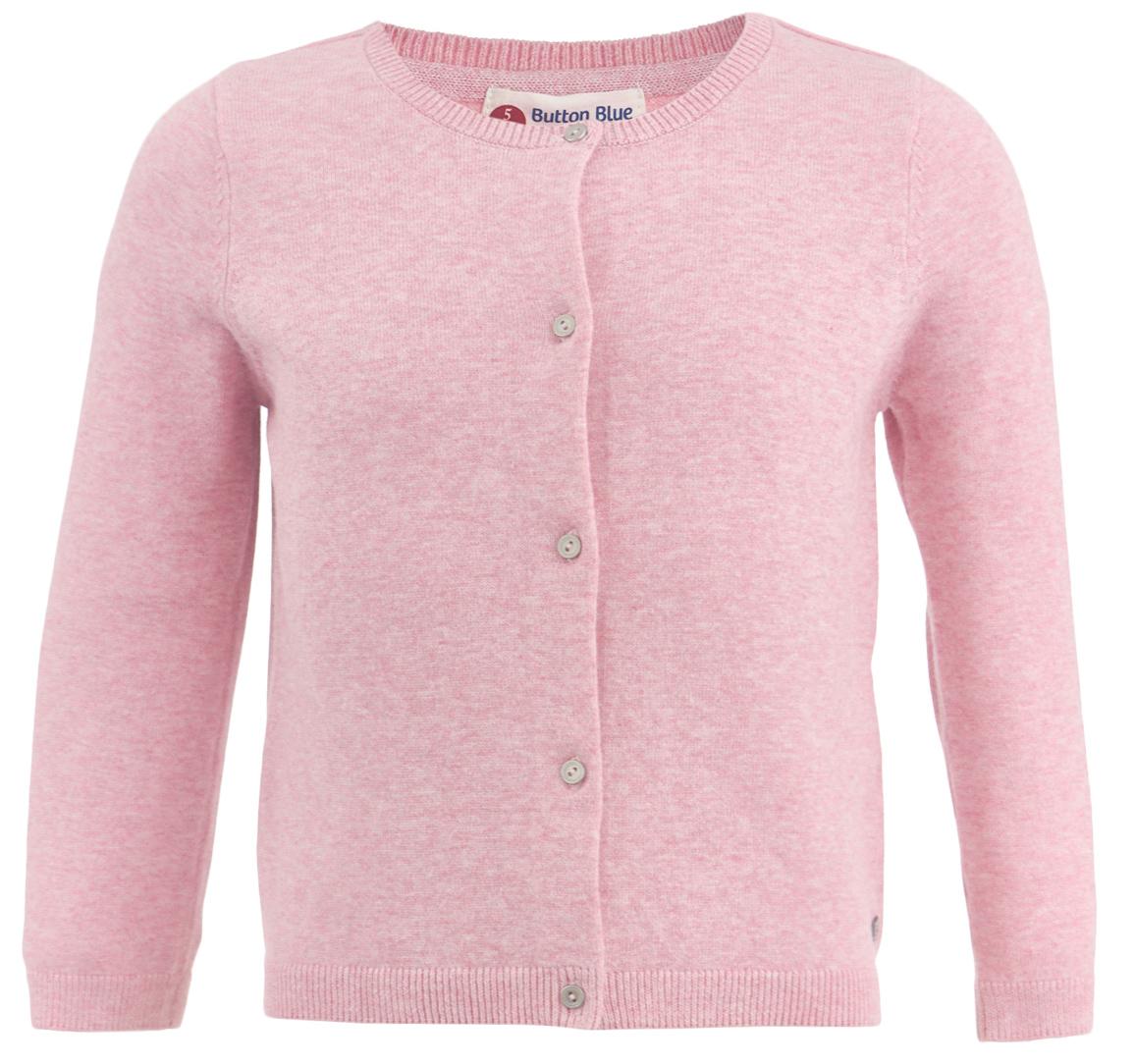 Кардиган для девочки Button Blue, цвет: розовый. 217BBGC35011200. Размер 98, 3 года217BBGC35011200Вязаный кардиган - классика жанра. Это базовый ассортимент, не утративший своей актуальности на протяжении многих лет. Спокойная свободная форма, мягкий силуэт делают кардиган отличным дополнением к любому комплекту с брюками или юбкой. Ваша желание купить детский кардиган недорого увенчается успехом, если вы обратите внимание на достойную модель от Button Blue. Молочный кардиган - отличный вариант для тех, кто ценит уют, комфорт и свободу движений.