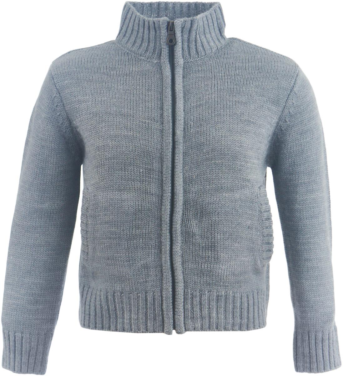 Кофта для девочки Button Blue, цвет: темно-серый. 217BBGC35032300. Размер 116, 6 лет217BBGC35032300Теплая вязаная кофта на молнии - базовая модель в зимнем гардеробе ребенка. Спокойная свободная форма, мягкий силуэт делают эту кофту отличным дополнением к любому комплекту с брюками или юбкой. Ваша желание купить детскую кофту недорого увенчается успехом, если вы обратите внимание на достойную модель от Button Blue. Кофта - отличный вариант для тех, кто ценит тепло, уют и комфорт.