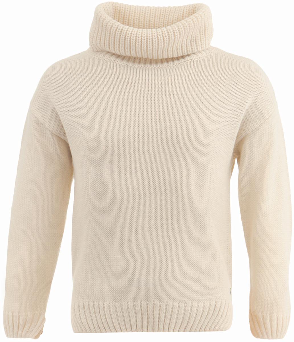 Свитер для девочки Button Blue, цвет: молочный. 217BBGC35041400. Размер 116, 6 лет217BBGC35041400Купить модный свитер для девочки - задача не из простых. А купить модный свитер недорого еще сложнее! Ведь он должен не только согревать, но и быть стильным, интересным, формируя зимний образ ребенка. Детский свитер от Button Blue - достойное и выгодное приобретение. Мягкая пряжа, свободный прямой силуэт, боковые разрезы делают свитер привлекательным. Вязаный свитер - отличный вариант для тех, кто ценит тепло, уют и комфорт.