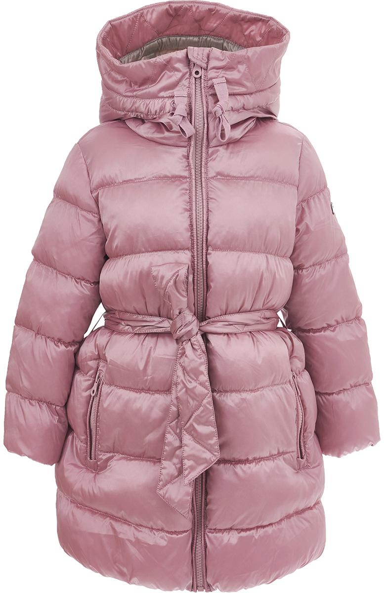 Пальто для девочки Button Blue, цвет: розовый. 217BBGC45031200. Размер 128, 8 лет