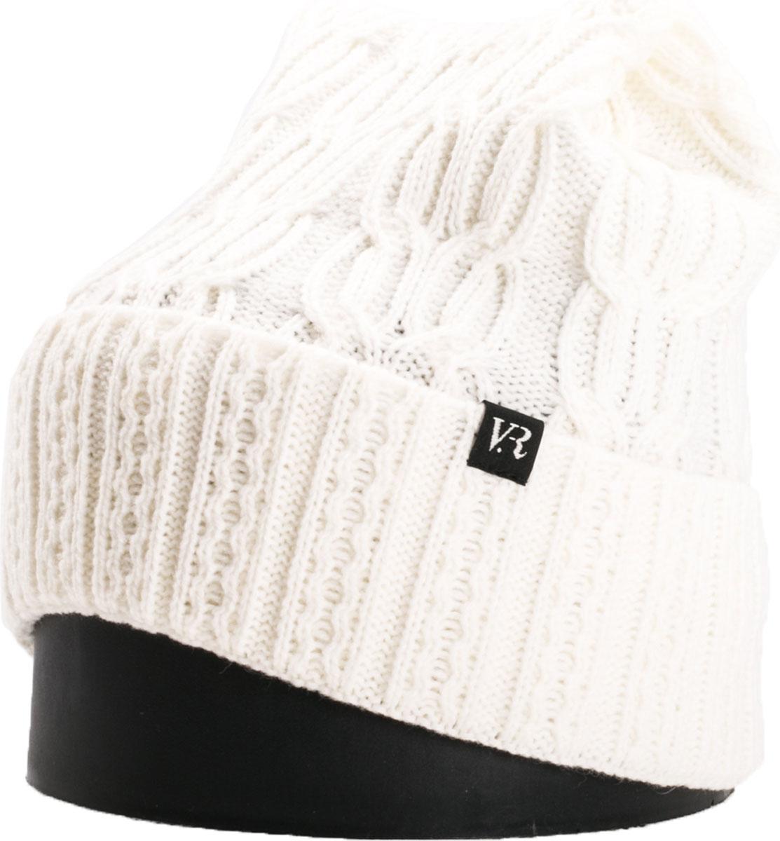 Шапка женская Vittorio Richi, цвет: белый. NSH900188. Размер 56/58NSH900188Стильная женская шапка Vittorio Richi отлично дополнит ваш образ в холодную погоду. Модель, изготовленная из шерсти с добавлением акрила, максимально сохраняет тепло и обеспечивает удобную посадку. Шапка дополнена ажурной вязкой и сбоку фирменной нашивкой. Привлекательная стильная шапка подчеркнет ваш неповторимый стиль и индивидуальность.