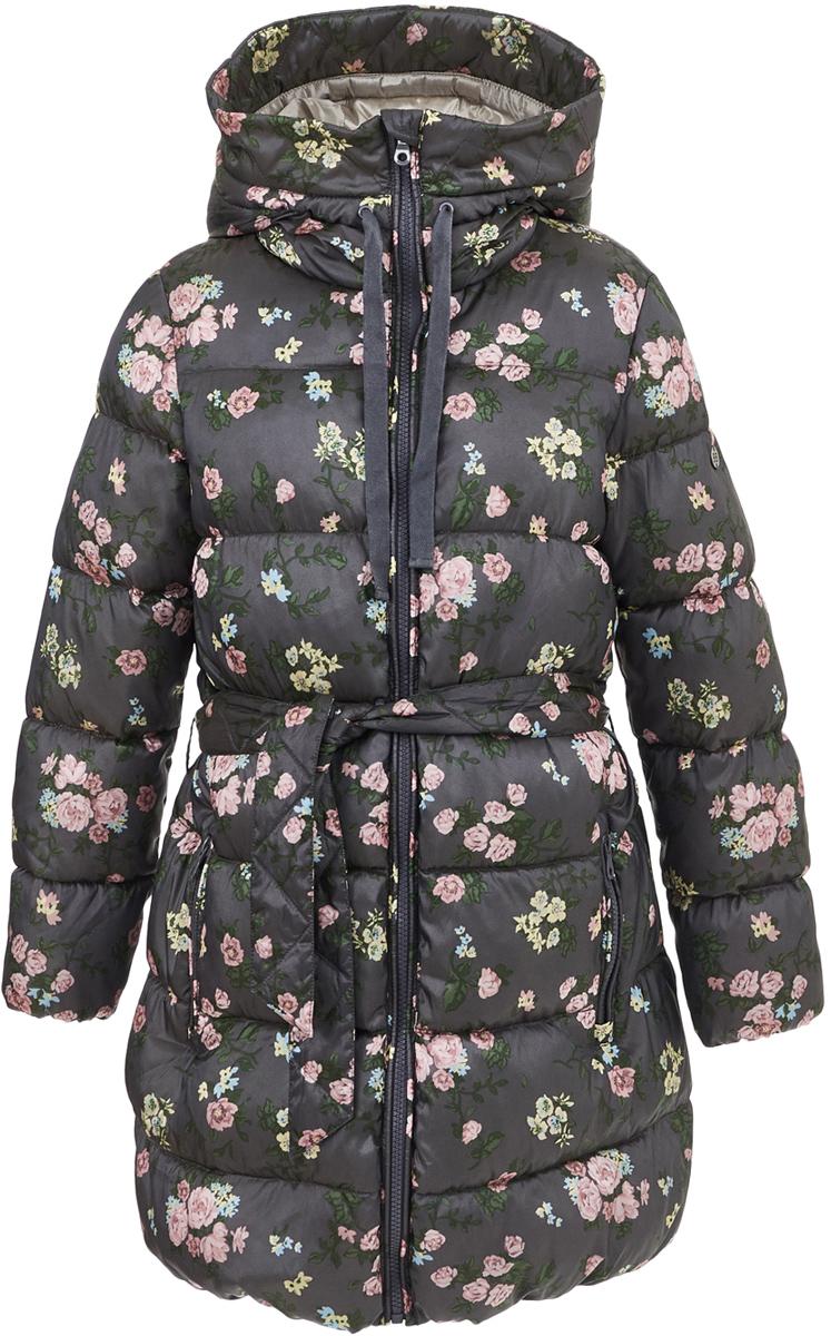 Пальто для девочки Button Blue, цвет: темно-серый. 217BBGC45032014. Размер 104, 4 года
