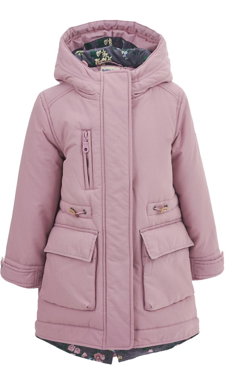 Пальто для девочки Button Blue, цвет: розовый. 217BBGC46011200. Размер 98, 3 года
