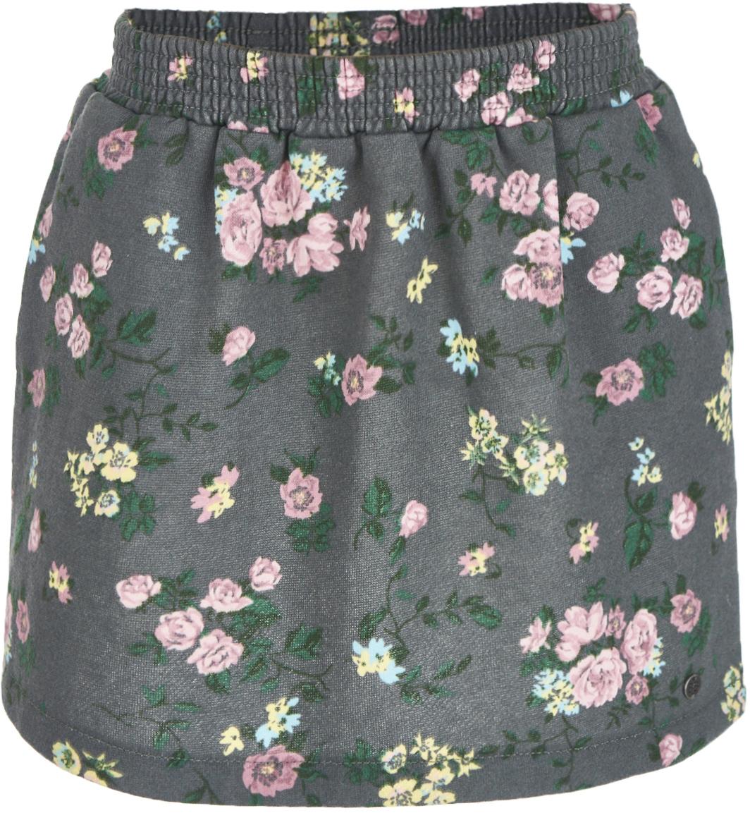 Юбка для девочки Button Blue, цвет: темно-серый. 217BBGC55012014. Размер 140, 10 лет217BBGC55012014Какой должна быть теплая юбка на каждый день? Модной, удобной, практичной! Именно такая юбка для девочки из мягкого футера с начесом сделает каждый день ребенка комфортным! Оптимальная длина, трапециевидный силуэт, пояс на резинке делают юбку очень удобной и для дома, и для детского сада, и для прогулок на свежем воздухе. Вы по-прежнему считаете, что недорогие детские юбки не могут выглядеть привлекательно? Юбка с цветочным рисунком от Button Blue развеет этот миф!