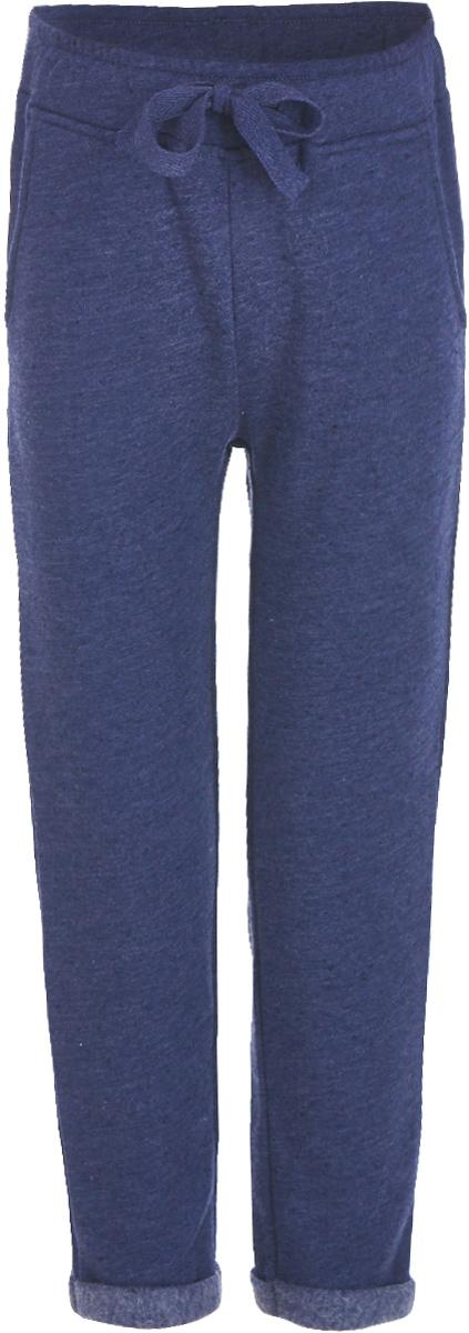 Брюки для девочки Button Blue, цвет: темно-синий. 217BBGC56011000. Размер 140, 10 лет сарафан для девочки button blue цвет серый 215bbgs5004 размер 164 14 лет