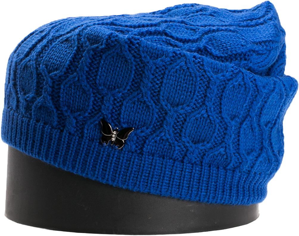 Шапка женская Vittorio Richi, цвет: василек. NSH415030. Размер 56/58NSH415030Стильная женская шапка Vittorio Richi отлично дополнит ваш образ в холодную погоду. Модель, изготовленная из шерсти с добавлением акрила, максимально сохраняет тепло и обеспечивает удобную посадку. Шапка дополнена сбоку декоративной бабочкой. Привлекательная стильная шапка подчеркнет ваш неповторимый стиль и индивидуальность.