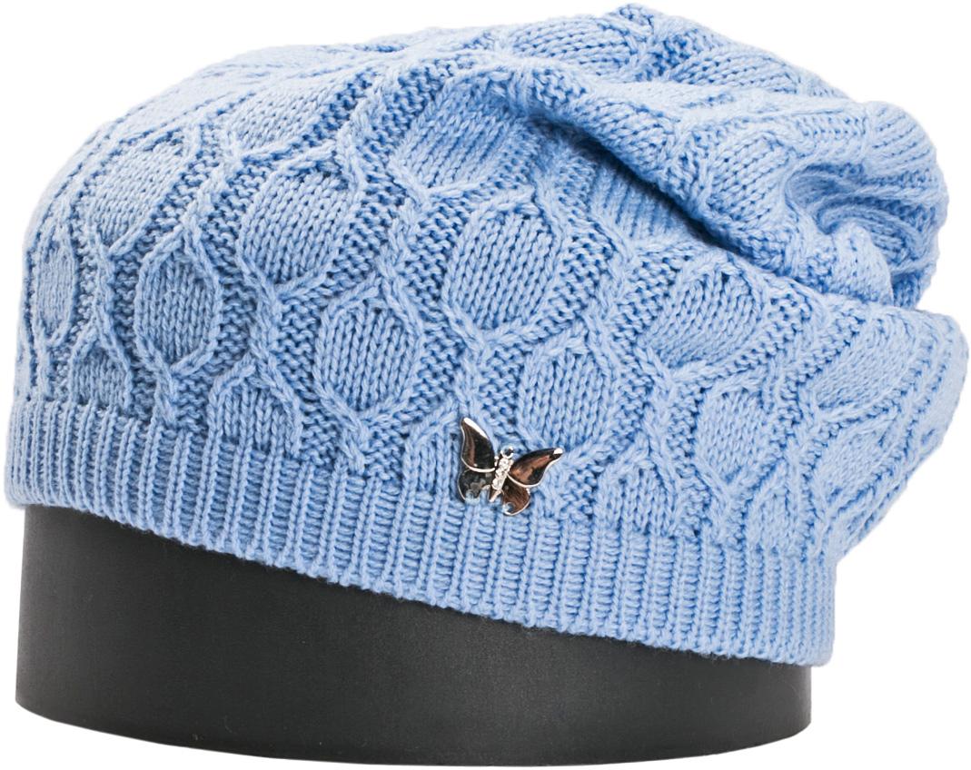 Шапка женская Vittorio Richi, цвет: голубой. NSH415099. Размер 56/58NSH415099Стильная женская шапка Vittorio Richi отлично дополнит ваш образ в холодную погоду. Модель, изготовленная из шерсти с добавлением акрила, максимально сохраняет тепло и обеспечивает удобную посадку. Шапка дополнена сбоку декоративной бабочкой. Привлекательная стильная шапка подчеркнет ваш неповторимый стиль и индивидуальность.