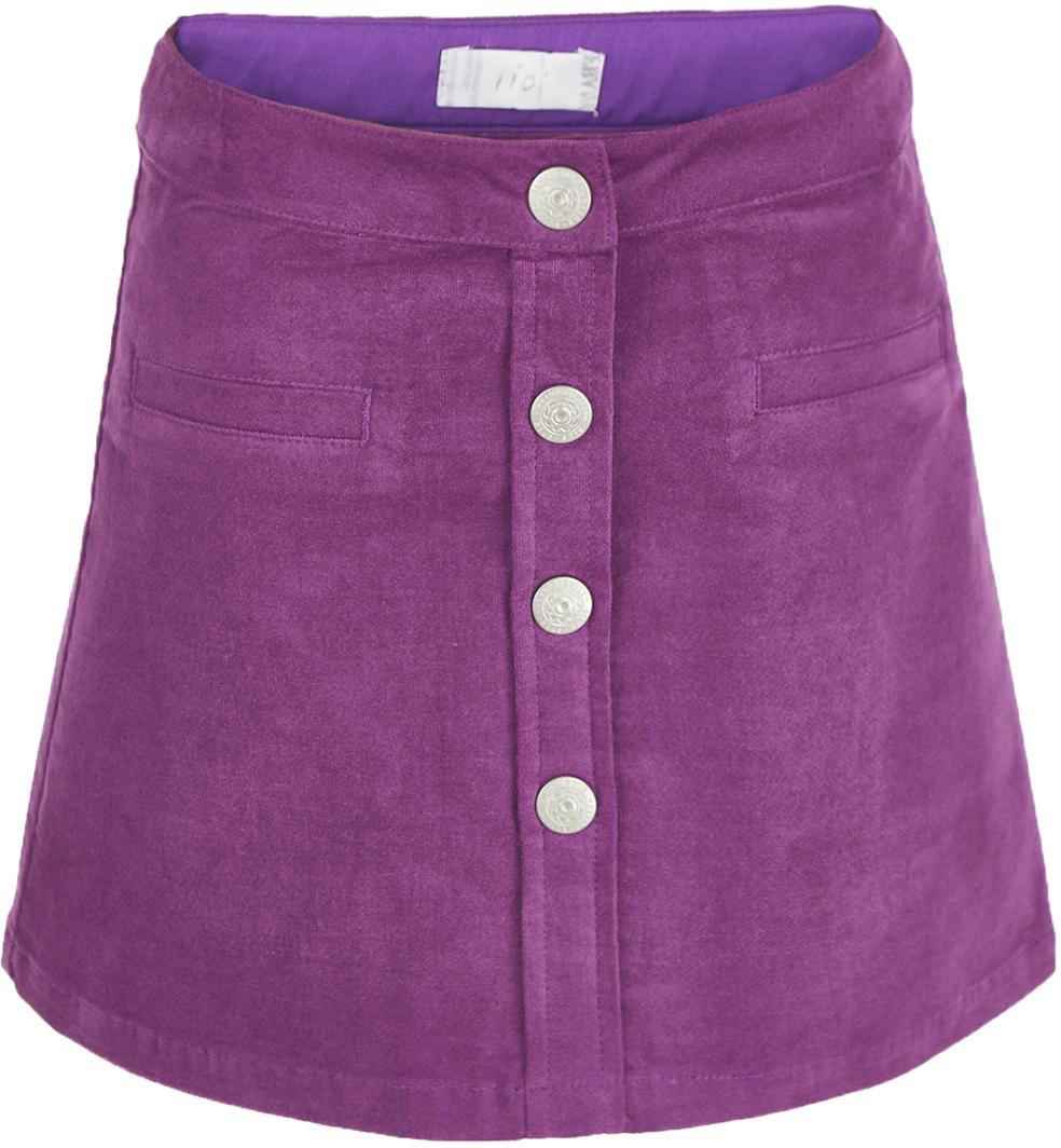 Юбка для девочки Button Blue, цвет: сиреневый. 217BBGC61013100. Размер 116, 6 лет217BBGC61013100Какой должна быть юбка на каждый день? Модной, удобной, практичной! Именно такая юбка для девочки из мягкого вельвета сделает каждый день ребенка комфортным! Оптимальная длина, трапециевидный силуэт, популярная застежка на кнопки делают юбку очень удобной и для дома, и для детского сада, и для прогулок на свежем воздухе. Вы по-прежнему считаете, что недорогие детские юбки не могут выглядеть привлекательно? Юбка от Button Blue убедит вас в обратном!