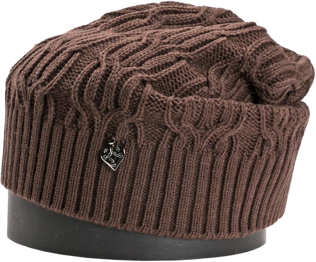 Шапка женская Vittorio Richi, цвет: кофейный. NSH900113. Размер 56/58NSH900113Стильная женская шапка Vittorio Richi отлично дополнит ваш образ в холодную погоду. Модель, изготовленная из шерсти с добавлением акрила, максимально сохраняет тепло и обеспечивает удобную посадку. Шапка дополнена ажурной вязкой и сбоку декоративным элементом. Привлекательная стильная шапка подчеркнет ваш неповторимый стиль и индивидуальность.