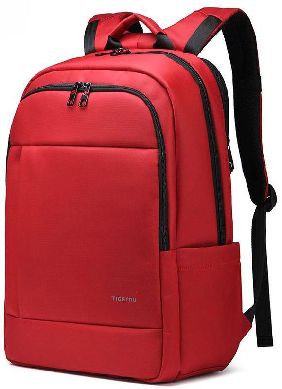 Tigernu T-B3142, Red рюкзак для ноутбука 172000000150130В рюкзаке помещается ноутбук до 17 дюймов или планшет. Удобное расположение внутренних карманов. Используется двойная молния в рюкзаке. Такой способ предотвращает взлом вашего рюкзака. Также в комплект входит навесной кодовый замок, который вы можете повесить на ручку молний.Удобный передний карман для книги или журнала.