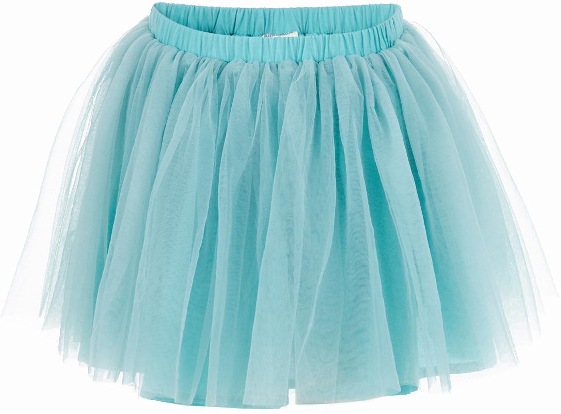 Юбка для девочки Button Blue, цвет: бирюзовый. 217BBGP61012600. Размер 98, 3 года217BBGP61012600Наверное, большинство родителей согласятся с тем, что недорогие нарядные юбки более предпочтительны для покупки в предновогодний период, когда много праздничных хлопот и без того серьезно сказываются на бюджете семьи. Эта юбка из сетки - оптимальный вариант! В нем девочка будет выглядеть нарядно и привлекательно. Дополнив образ нарядной блузкой и новогодними аксессуарами, в этой юбке можно смело водить хоровод, ходить в гости, в театр, создавая праздничное настроение. Если вы хотите купить детскую юбку для предстоящих торжеств, эта модель от Button Blue - отличный выбор.