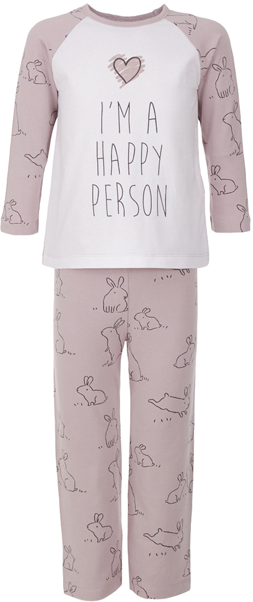 Пижама для девочки Button Blue, цвет: розовый. 217BBGU97011207. Размер 98, 3 года пижамы button blue пижама