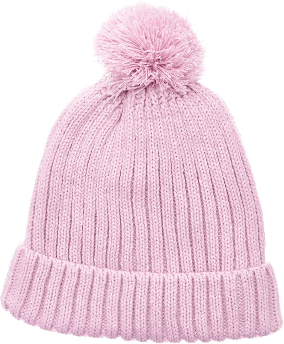 Шапка для девочки Button Blue, цвет: розовый. 217BBGX73021200. Размер 56217BBGX73021200Детские вязаные шапки на подкладке из флиса - необходимый атрибут прогулочного гардероба. К тому же, они отлично украшают и завершают осенне-зимний комплект. Купить модную шапку для девочки, значит, позаботиться о комфорте и хорошем настроении ребенка.