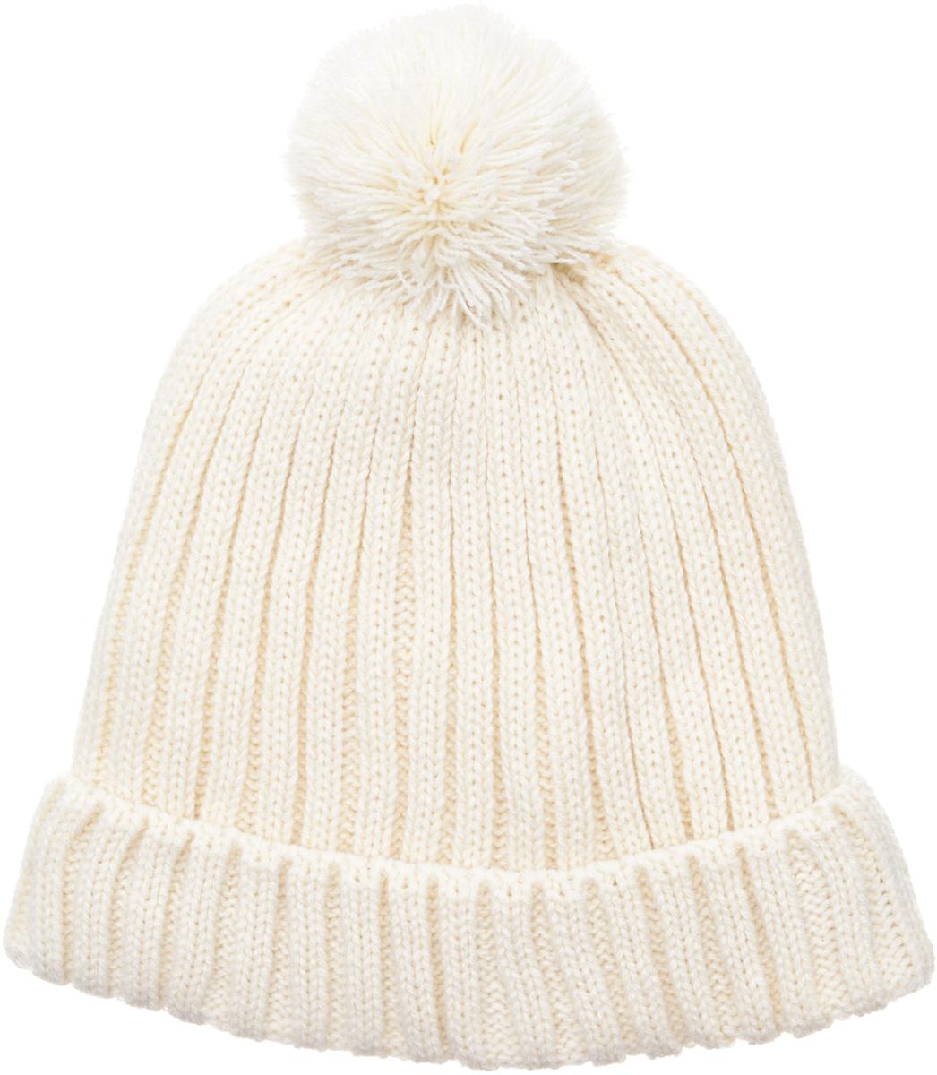 Шапка для девочки Button Blue, цвет: молочный. 217BBGX73021400. Размер 56217BBGX73021400Детские вязаные шапки на подкладке из флиса - необходимый атрибут прогулочного гардероба. К тому же, они отлично украшают и завершают осенне-зимний комплект. Купить модную шапку для девочки, значит, позаботиться о комфорте и хорошем настроении ребенка.