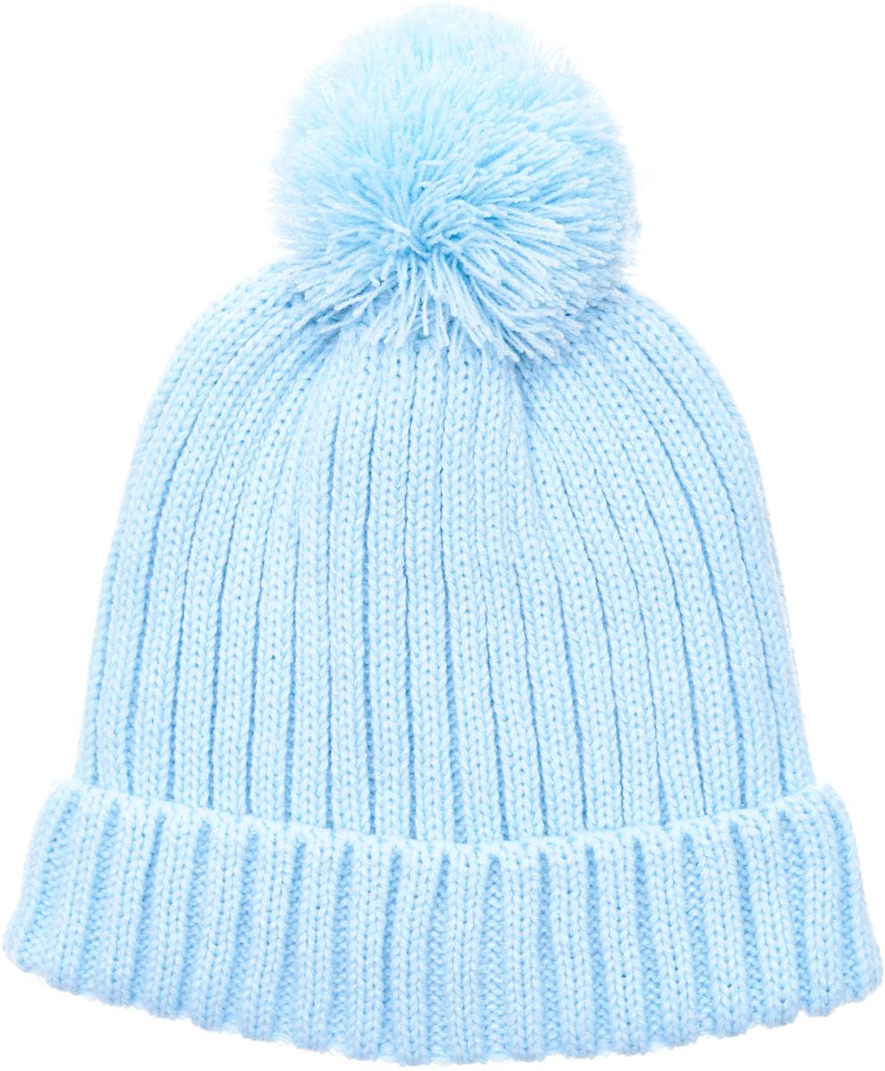 Шапка для девочки Button Blue, цвет: голубой. 217BBGX73021800. Размер 52 шапка для девочки button blue цвет голубой 217bbgx73021800 размер 52