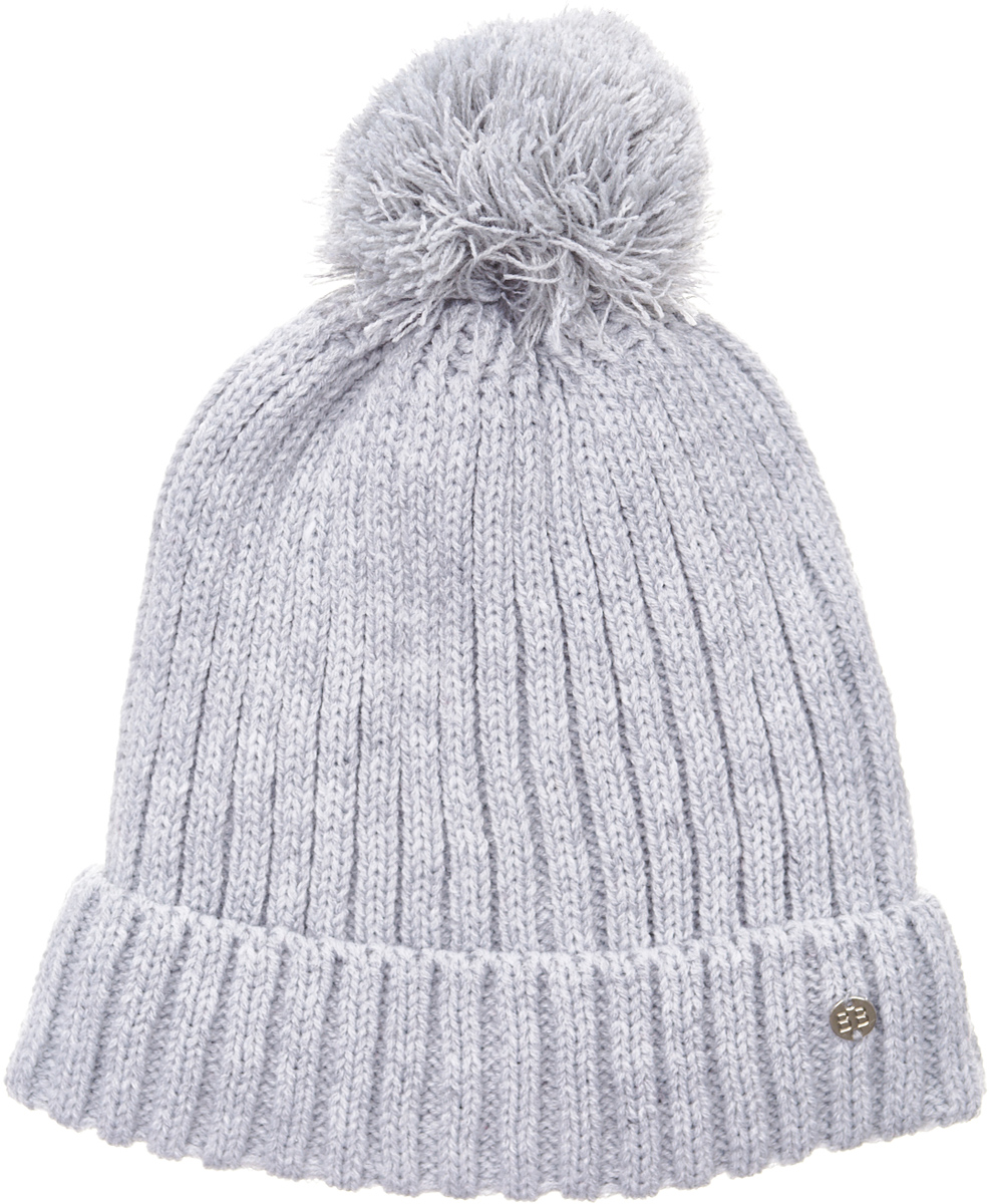 Шапка для девочки Button Blue, цвет: серый. 217BBGX73021900. Размер 50217BBGX73021900Детские вязаные шапки на подкладке из флиса - необходимый атрибут прогулочного гардероба. К тому же, они отлично украшают и завершают осенне-зимний комплект. Купить модную шапку для девочки, значит, позаботиться о комфорте и хорошем настроении ребенка.