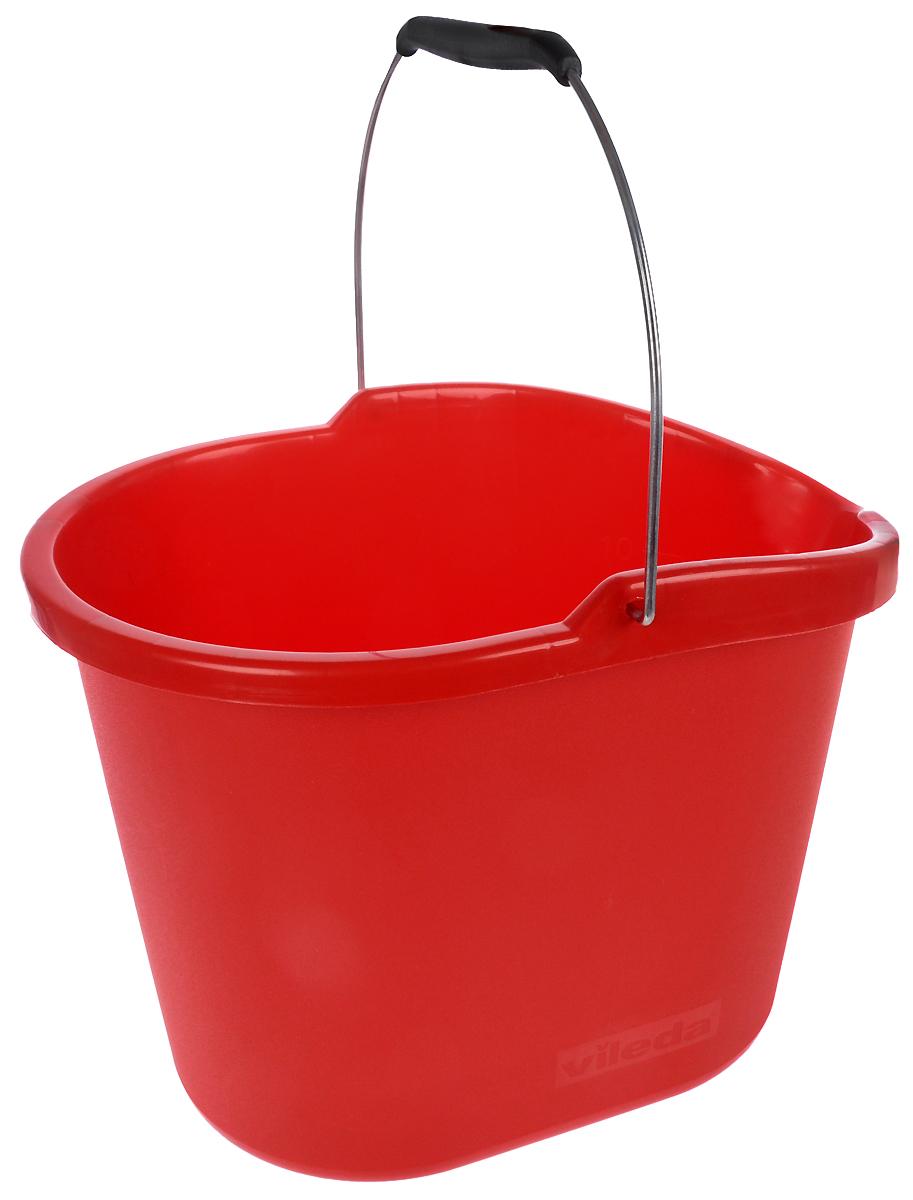 Ведро Vileda, без отжима, цвет: красный32110654Овальное ведро Vileda изготовлено из крепкого пластика и имеет современный дизайн. На внутренней стороне ведра имеется мерная шкала. Для удобного использования ведро имеет металлическую ручку с пластиковой вставкой. Размер ведра: 37 х 26 х 27,5 см.