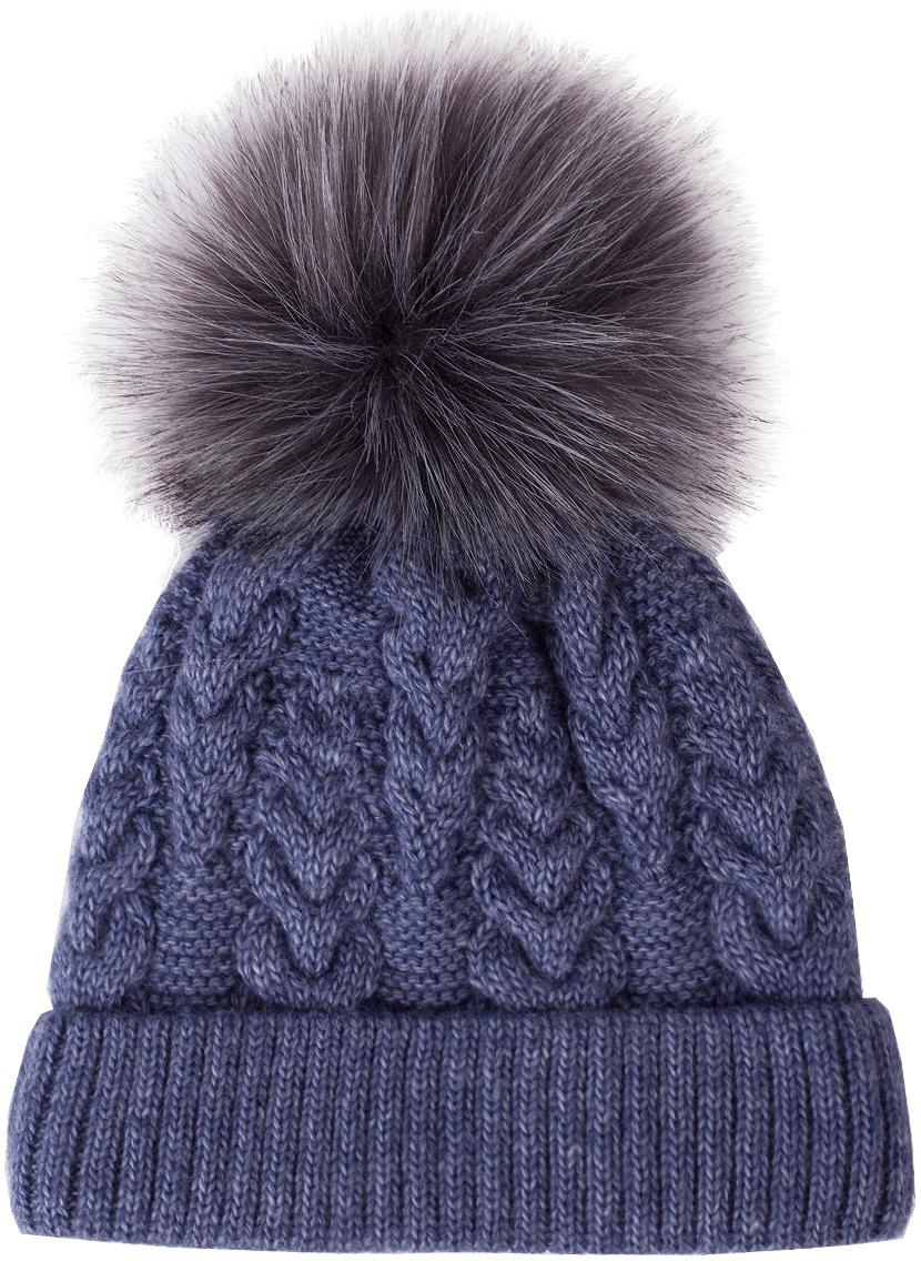 Шапка для девочки Button Blue, цвет: синий. 217BBGX73074000. Размер 56217BBGX73074000Детские вязаные шапки на подкладке из флиса - необходимый атрибут прогулочного гардероба. К тому же, они отлично украшают и завершают осенне-зимний комплект. Купить модную шапку для девочки, значит, позаботиться о комфорте и хорошем настроении ребенка.