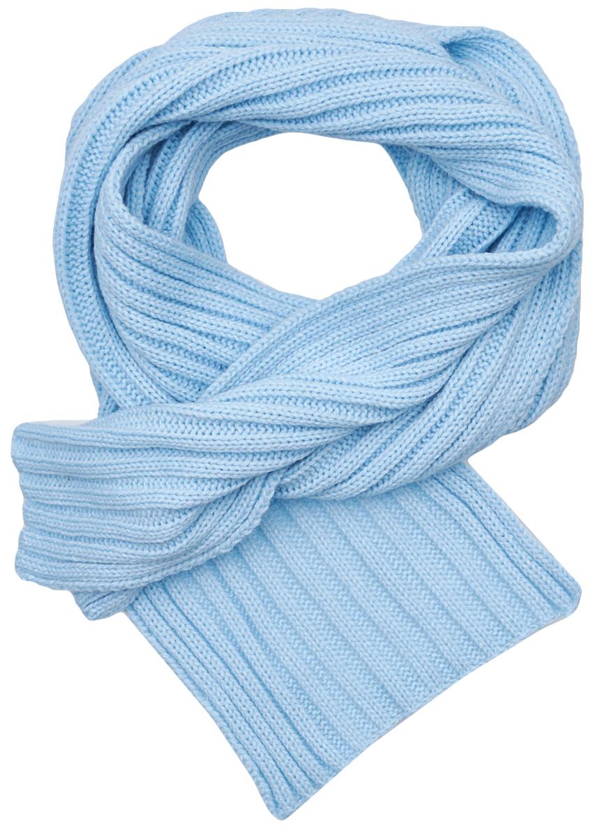 Шарф для девочки Button Blue, цвет: голубой. 217BBGX75011800. Размер универсальный217BBGX75011800Мягкий однотонный шарф для девочки согреет в холодный день и красиво завершит осенний и зимний комплект. Если вы решили дополнить гардероб ребенка модным и уютным аксессуаром, вам стоит купить шарф от Button Blue. Достойное внешний вид, высокое качество и оптимальная цена принесут удовольствие от покупки и эксплуатации.