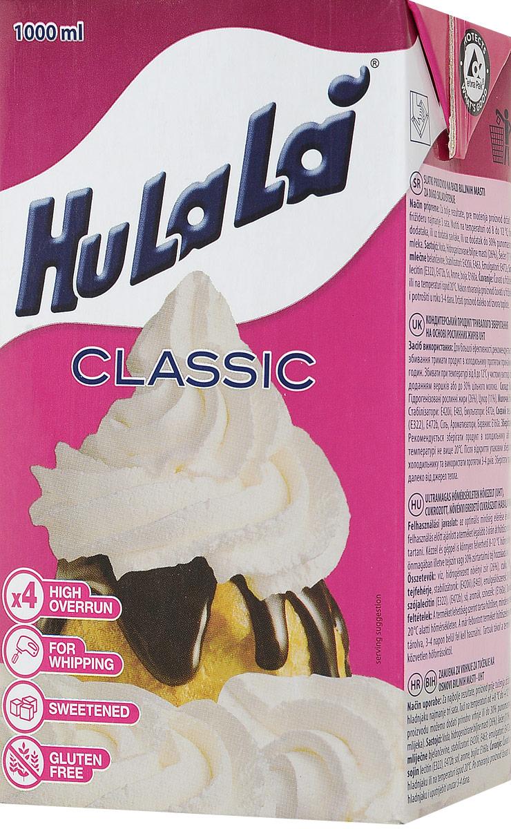 Hulala крем на растительном масле кондитерский сладкий для взбивания Классик, 1 кг жидкость сливки cover girl covergirl 3in1 810 30ml