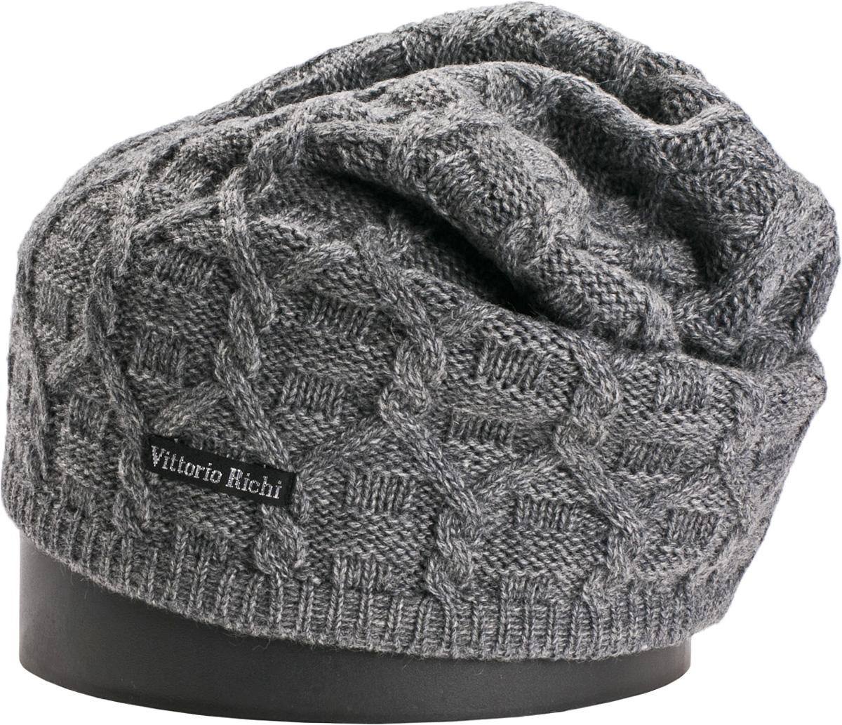 Шапка женская Vittorio Richi, цвет: серый. NSH417024. Размер 56/58 шапка женская sela цвет серый hak 141 019w 6404 размер 56 58