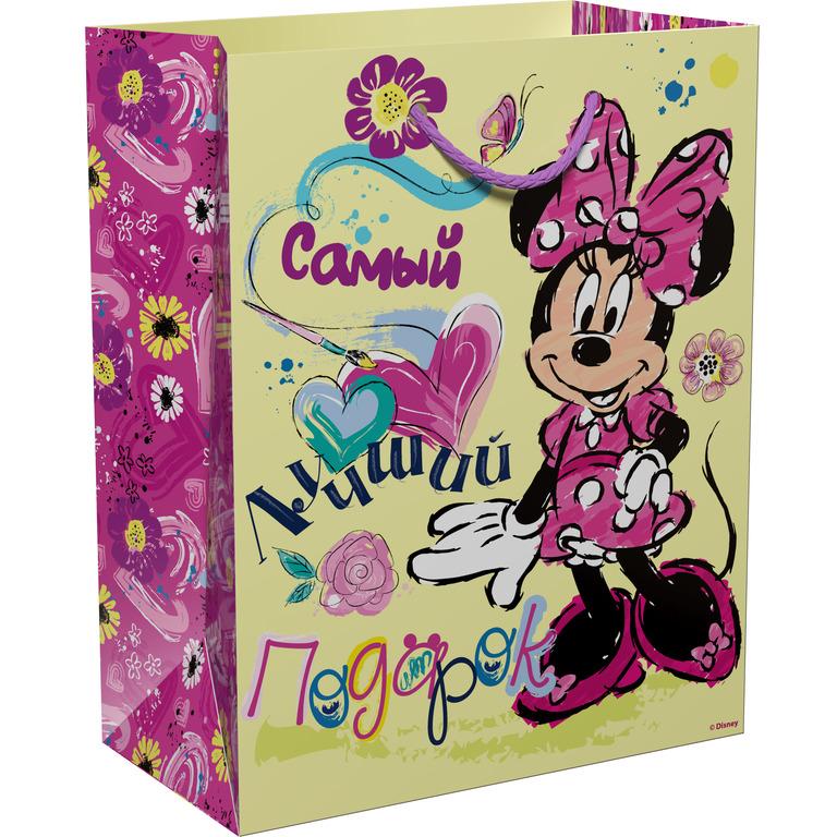 Disney Минни Пакет подарочный Самый лучший подарок 23 х 18 х 10 см -  Подарочная упаковка