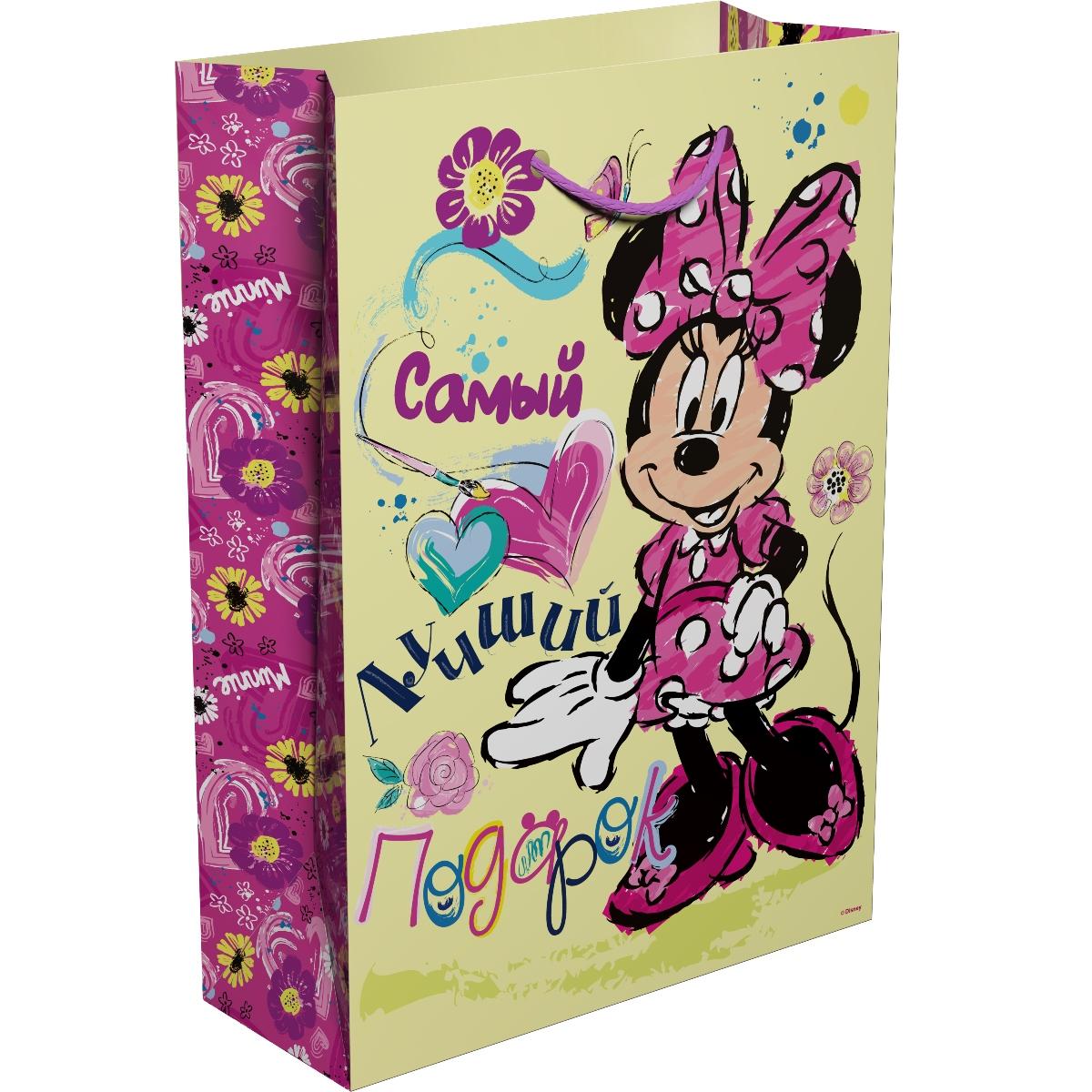 Disney Минни Пакет подарочный Самый лучший подарок 35 х 25 х 9 см