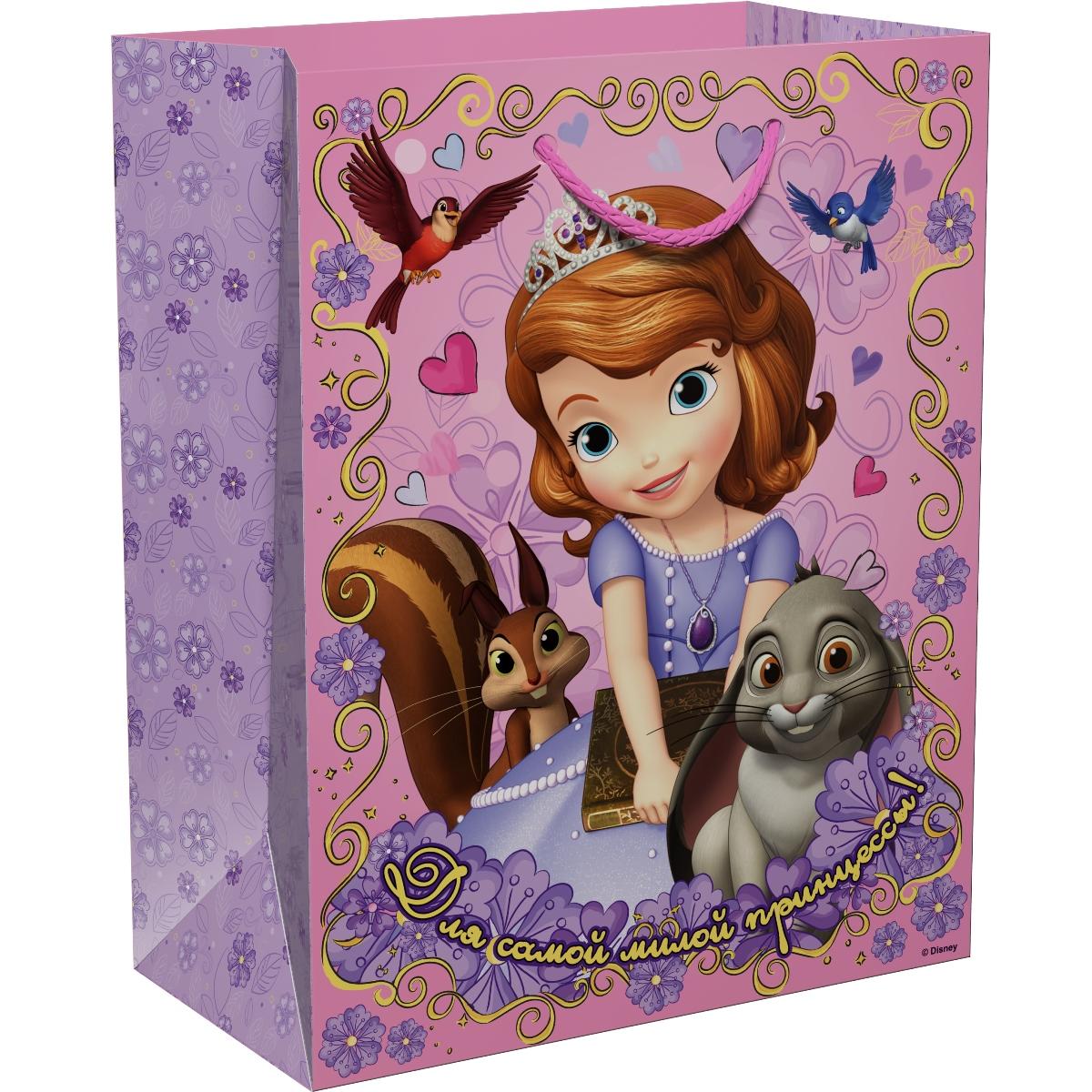 Disney София Прекрасная Пакет подарочный Для принцессы 23 х 18 х 10 см -  Подарочная упаковка