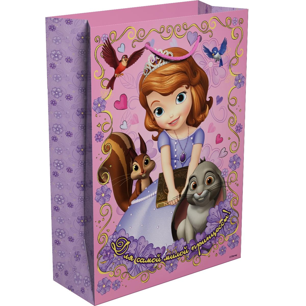 Disney София Прекрасная Пакет подарочный Для принцессы 35 х 25 х 9 см -  Подарочная упаковка