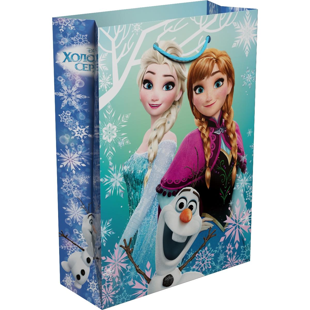 Disney Холодное Сердце Пакет подарочный 35 х 25 х 9 см т58465 disney холодное сердце