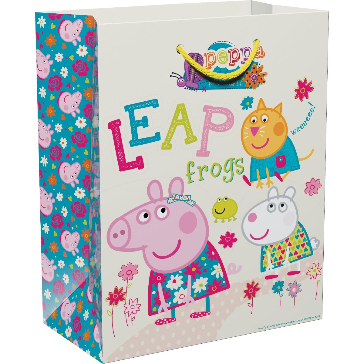 Peppa Pig Пакет подарочный Весна Пеппы 23 х 18 х 10 см peppa pig пакет подарочный пеппа и сьюзи 35 х 25 х 9 см