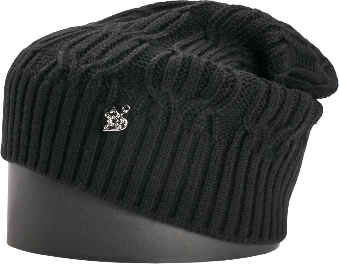 Шапка женская Vittorio Richi, цвет: черный. NSH900109. Размер 56/58NSH900109Стильная женская шапка Vittorio Richi отлично дополнит ваш образ в холодную погоду. Модель, изготовленная из шерсти с добавлением акрила, максимально сохраняет тепло и обеспечивает удобную посадку. Шапка дополнена ажурной вязкой. Привлекательная стильная шапка подчеркнет ваш неповторимый стиль и индивидуальность.