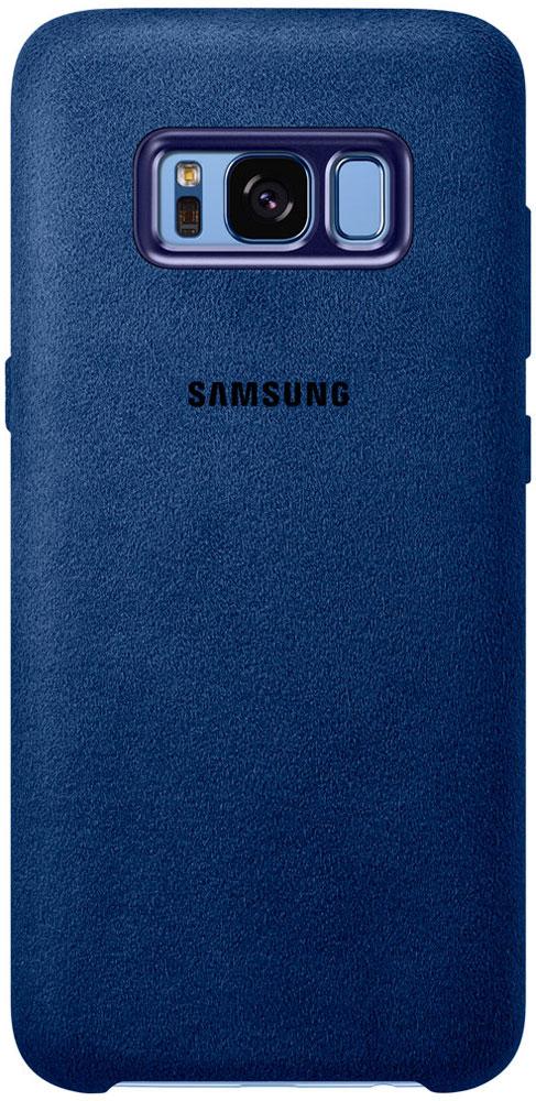 Samsung EF-XG950 Alcantara Cover чехол для Galaxy S8, Blue чехол клип кейс samsung alcantara cover для samsung galaxy s8 розовый [ef xg950apegru]