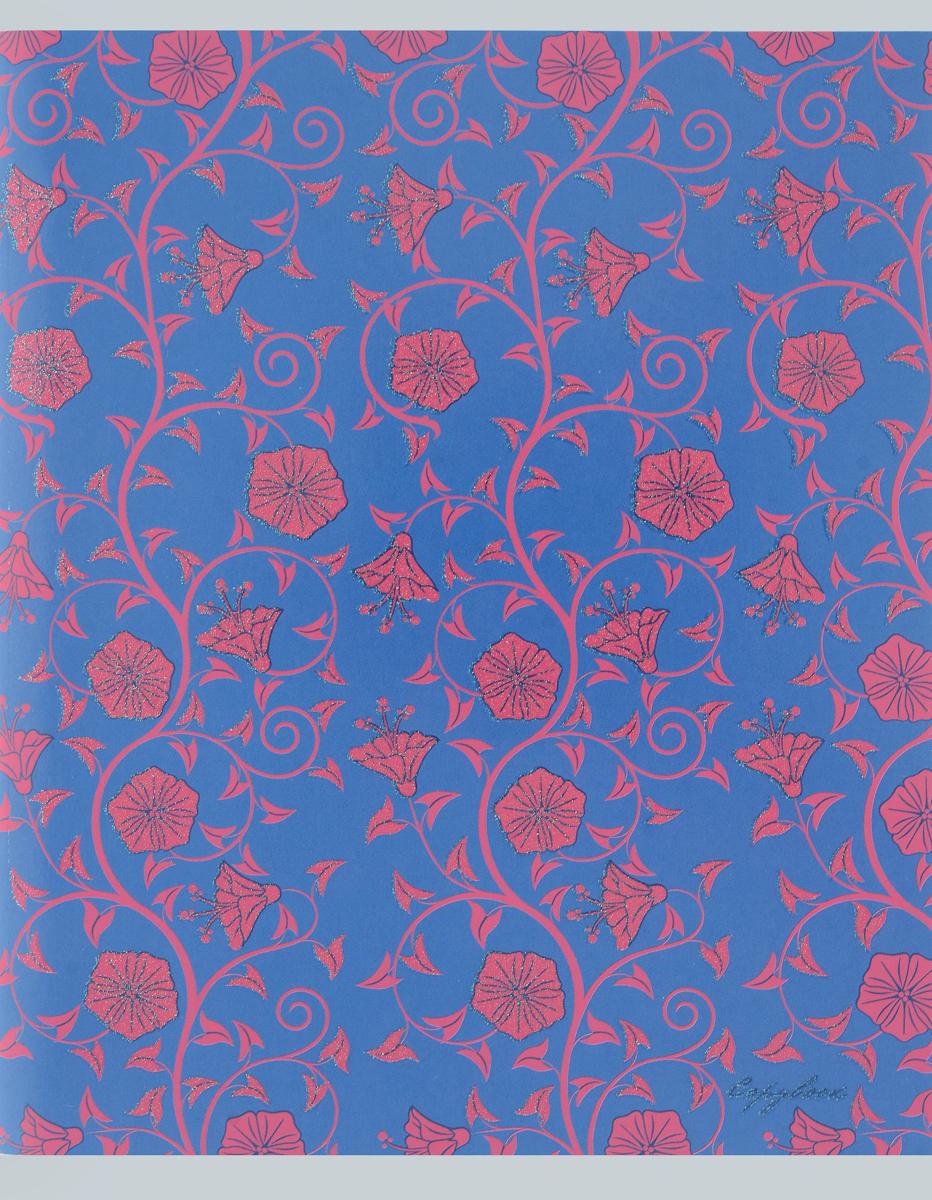 Канц-Эксмо Тетрадь Изящные узоры 96 листов в клетку цвет синийТБ965282_синий