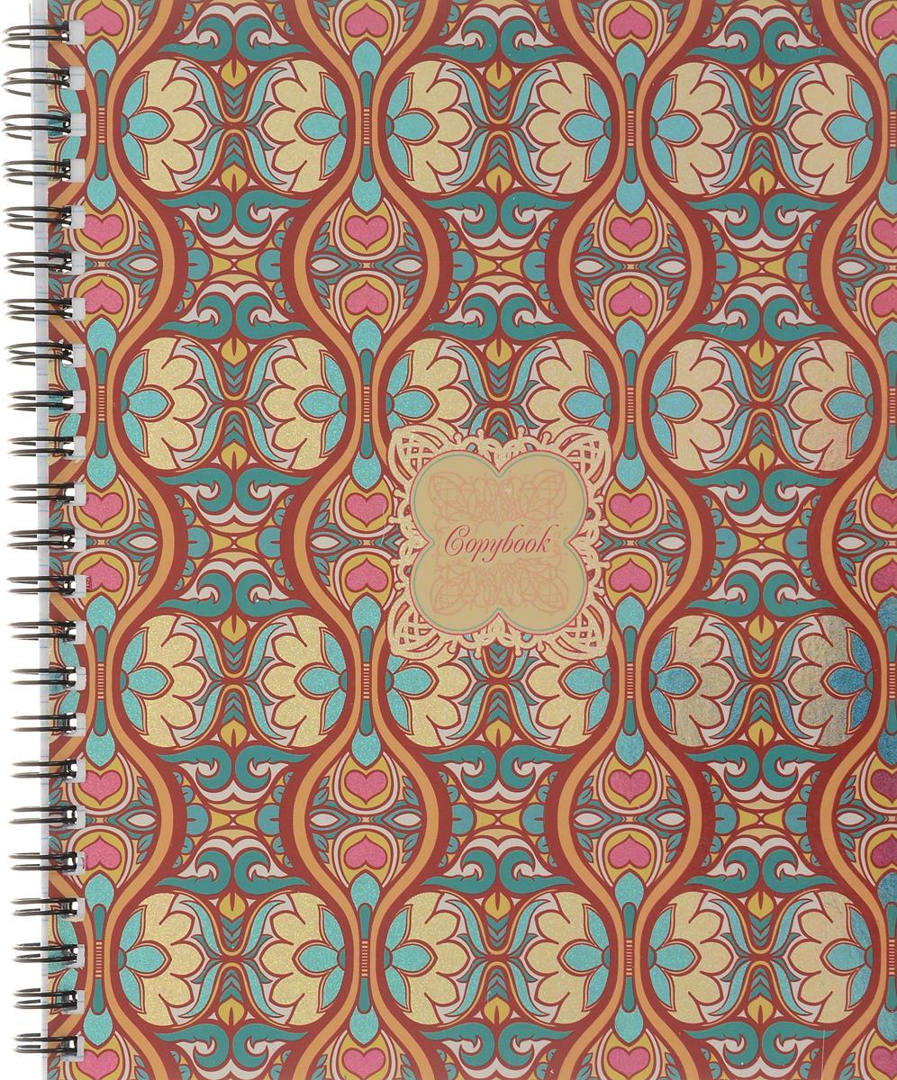 Канц-Эксмо Тетрадь Драгоценные узоры 96 листов в клетку цвет бирюзовый бордовый канц эксмо тетрадь вдохновение 96 листов в клетку цвет сиреневый