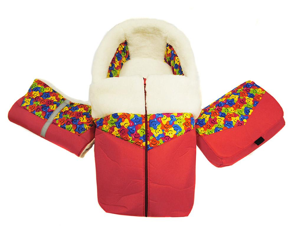 Русские Игрушки Комплект аксессуаров для санимобиля цвет красный17744Комплект мягких аксессуаров состоит из 4 элементов: меховой матрас, попона для ног, муфта для рук и сумка. Меховой матрас с попоной для ног очень хорошо защитит вашего ребенка от холода и влаги. Мех, используемый в данных изделиях, состоит на 50% из натуральной овчины.Матрас изготовлен в четком соответствии с формой сиденья и спинки санимобиля, и имеет специальные прорези для ремня безопасности. Для надежной защиты от холода в матрас вшит натуральный войлок из валяной овечьей шерсти.Попона для ног изготовлена из водонепроницаемой ткани, меха и плотной подкладочной ткани. Для удобства использования попона для ног также оснащена молнией. Попона для ног может пристегиваться к матрасу посредством контактной ленты (липучки).Муфта для рук, внутри полностью состоящая из меха, закрепляется на толкатель (ручку) и служит для защиты рук от холода, везущего санки человека.Сумка также пристегивается к толкателю санимобиля с помощью специальных креплений и имеет внутри карман и специальное отделение для бутылочки.Все аксессуары изготовлены в соответствии с ГОСТ.Санимобиль приобретается отдельно.