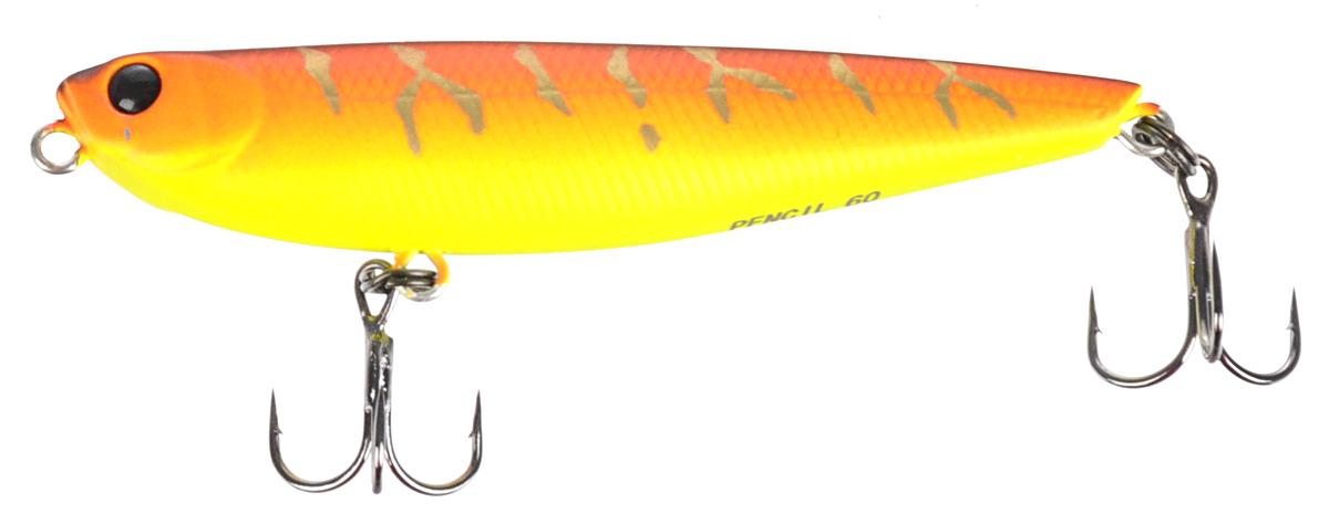 Воблер Tsuribito Pencil, цвет 029, 60 мм братья щербаковы ловля на незацепляйки