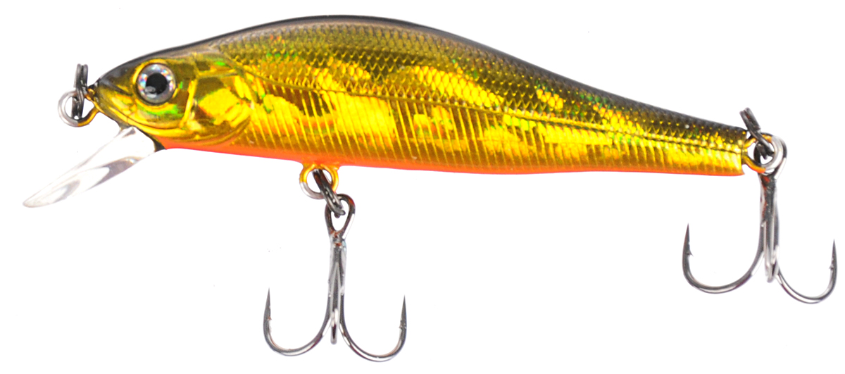 Воблер Tsuribito Jerkbait 50SP-SR, цвет: золотой, оранжевый (002), длина 5 см, 3 г воблер tsuribito super shad длина 6 см вес 6 5 г 60f 058