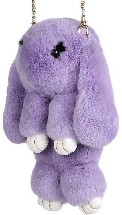 Рюкзак детский Пушистый кролик цвет фиолетовыйРК-503Рюкзак / Сумка в виде красивого пушистого зайчика из натурального кроличьего меха является отличным способом выделиться и подчеркнуть свою индивидуальность и хороший вкус. Такую сумочку можно носить через плечо, а продев металлический ремешок через среднее кольцо-держатель, сумочка превращается в рюкзак.При прикосновении к такому аксессуару обладатель попадает в мир великолепной нежности. Очень мягкий на ощупь мех красивого цвета разнообразит современный гардероб, а также сделает образ полностью завершенным. Такой рюкзак не оставит обладателя равнодушным и без пристального внимания со стороны окружающих!Лапки кролика и обратная сторона ушек сделаны из эко-кожи, а так же лапки кролика сшиты качественной нитью.Такая пушистая сумочка идеально подойдет в качестве подарка как маленькой девочке, юной моднице, так и взрослой женщине.