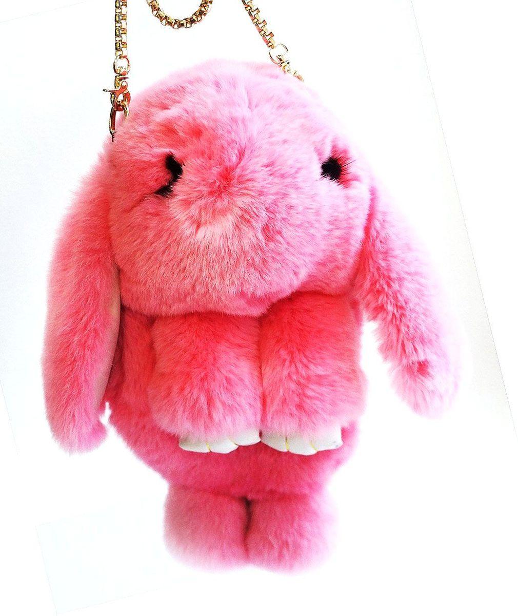 Рюкзак детский Пушистый кролик цвет розовыйРК-507Рюкзак / Сумка в виде красивого пушистого зайчика из натурального кроличьего меха является отличным способом выделиться и подчеркнуть свою индивидуальность и хороший вкус. Такую сумочку можно носить через плечо, а продев металлический ремешок через среднее кольцо-держатель, сумочка превращается в рюкзак.При прикосновении к такому аксессуару обладатель попадает в мир великолепной нежности. Очень мягкий на ощупь мех красивого цвета разнообразит современный гардероб, а также сделает образ полностью завершенным. Такой рюкзак не оставит обладателя равнодушным и без пристального внимания со стороны окружающих!Лапки кролика и обратная сторона ушек сделаны из эко-кожи, а так же лапки кролика сшиты качественной нитью.Такая пушистая сумочка идеально подойдет в качестве подарка как маленькой девочке, юной моднице, так и взрослой женщине.