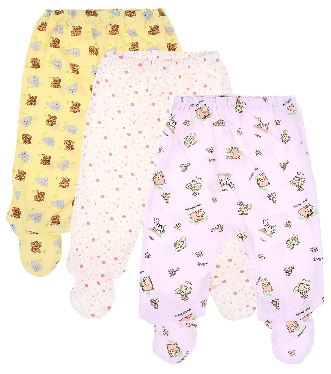 Ползунки для девочки Фреш стайл, цвет: желтый, розовый, белый, 3 шт. 10-506д. Размер 6210-506дКомплект Фреш Стайл состоит из трех ползунков с закрытыми ножками для девочки.Ползунки послужат идеальным дополнением к гардеробу малышки, обеспечивая ей наибольший комфорт. Изготовленные из натурального хлопка, они необычайно мягкие и легкие, не раздражают нежную кожу ребенка и хорошо вентилируются, а эластичные швы приятны телу малыша и не препятствуют его движениям. Ползунки дополнены мягкой резинкой, не сдавливающей животик ребенка. Украшены ползунки яркими оригинальными рисунками. Оригинальный дизайн и яркая расцветка делают эти ползунки модным и стильным предметом детского гардероба. В них вашей малышке всегда будет комфортно и уютно. УВАЖАЕМЫЕ КЛИЕНТЫ!Обращаем ваше внимание на тот факт, что товар поставляется в цветовом ассортименте. Поставка осуществляется в зависимости от наличия на складе.