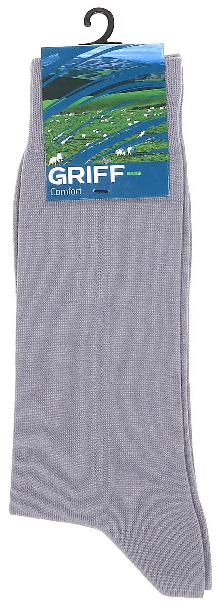 Носки мужские Griff Comfort Aloe Vera, цвет: светло-серый. M1. Размер 45/47M1Всесезонные мужские носки от Griff выполнены из эластичного хлопка. Носки с широкой резинкой, усиленными пяткой и мыском.